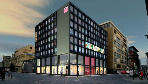 Citizenm visual works for Design hotel glasgow