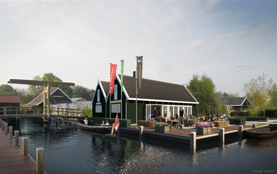 3d visualisatie Historische Tuin - Aalsmeer