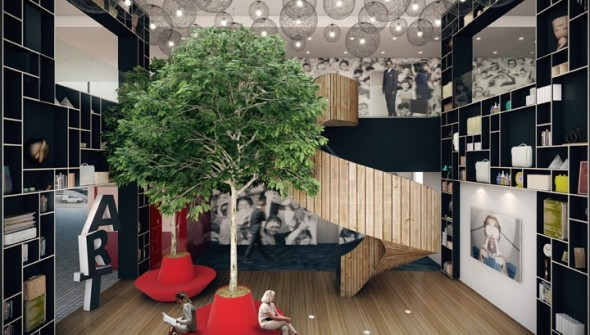 Visual Works - artist-impressie - citizen M Rotterdam - Entrance