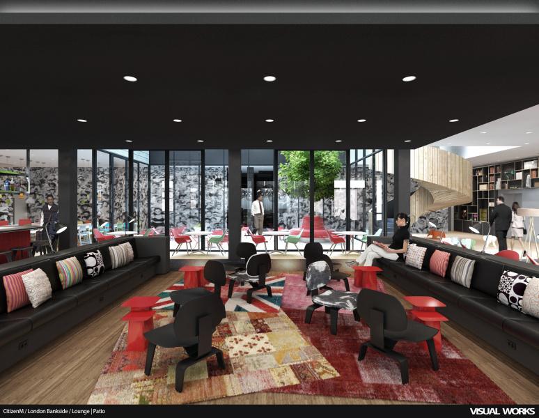 artist impression -  CitizenM - View Lounge - Patio